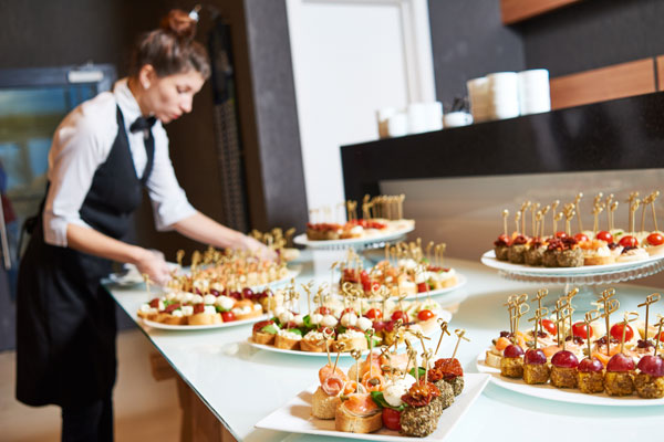 Contract Catering - Image with decorated Food on tables