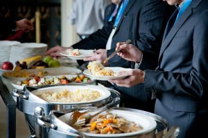Corporate Catering - Picture of food on table