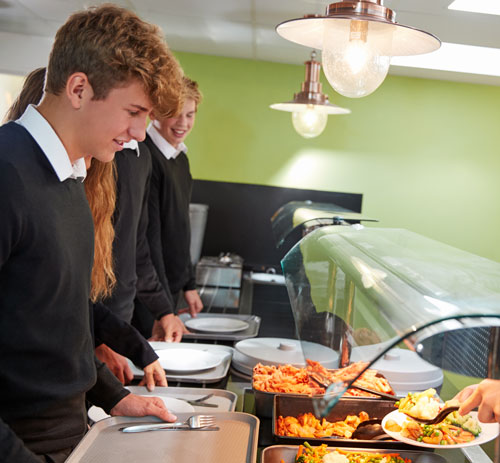 School Catering - Students ordering food