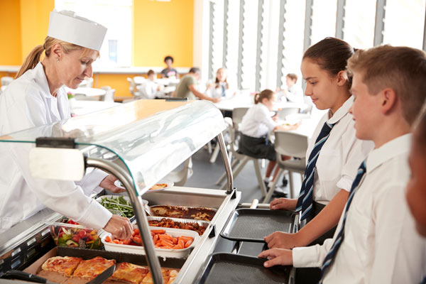 School Catering - Students in canteen